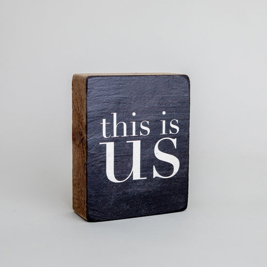 This is Us Decorative Wooden Block
