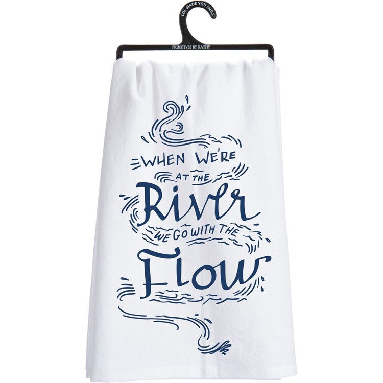 River Dishtowel - Go with the Flow