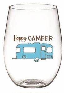 2pk Shatterproof Camping/Hiking Wine Glasses