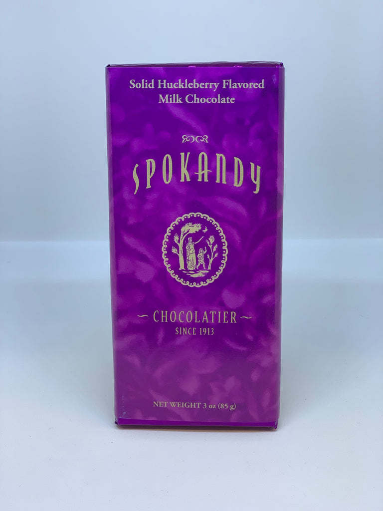 Solid Huckleberry Flavored Milk Chocolate Bar