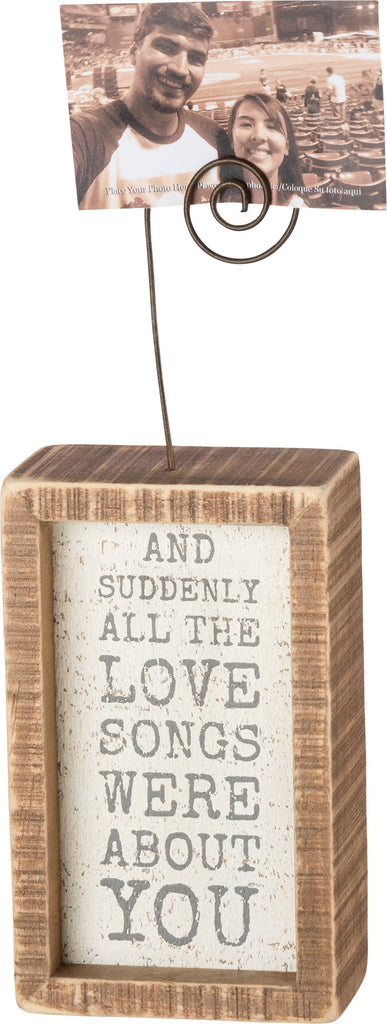 Inset Photo Block - Love Songs