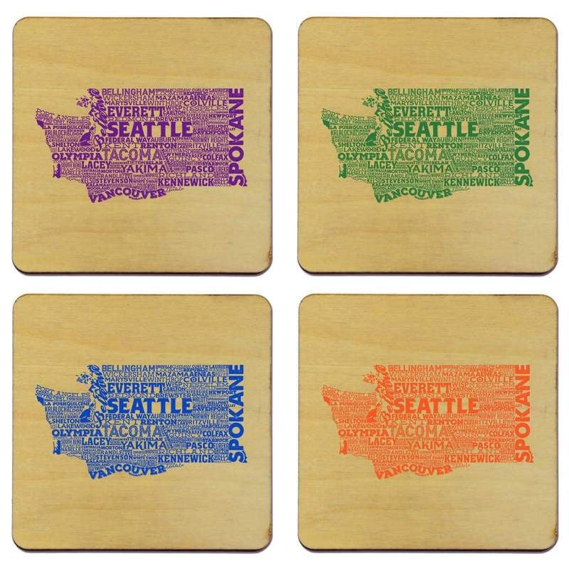 Washington Typography Coaster Set