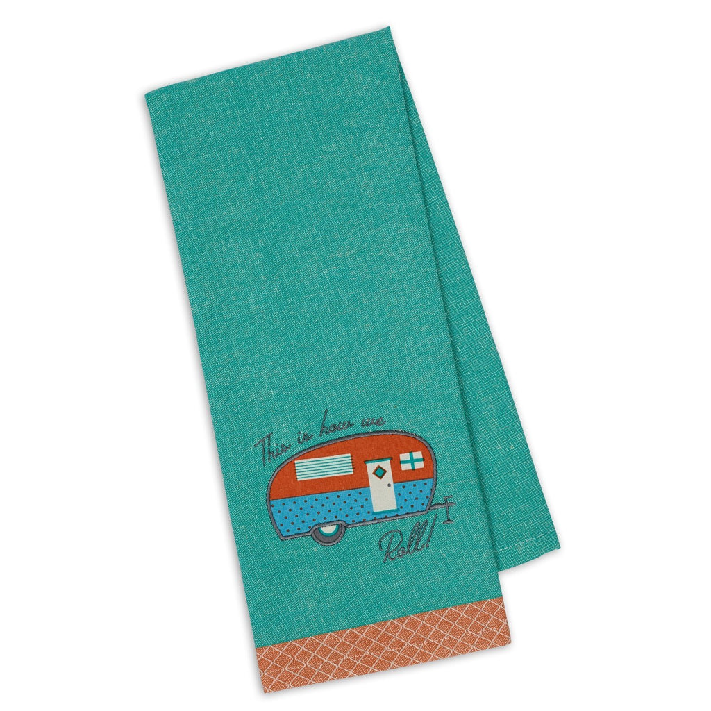 This is How We Roll Camper Embellished Dishtowel