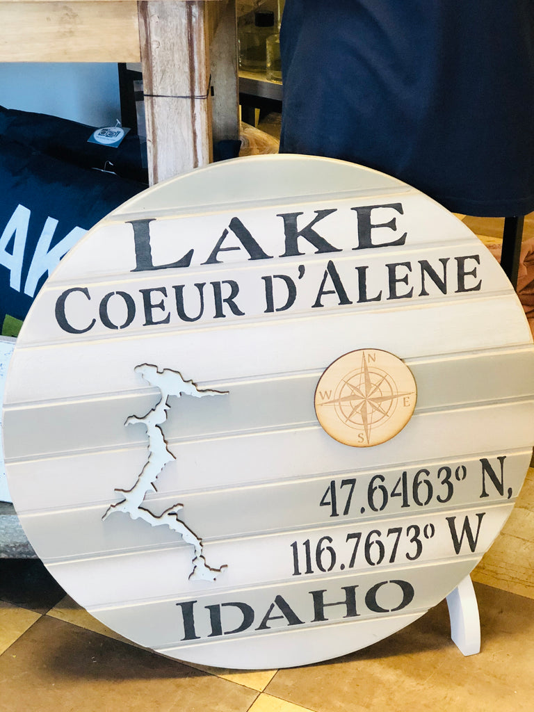 Custom Latitude & Longitude Wooden Sign