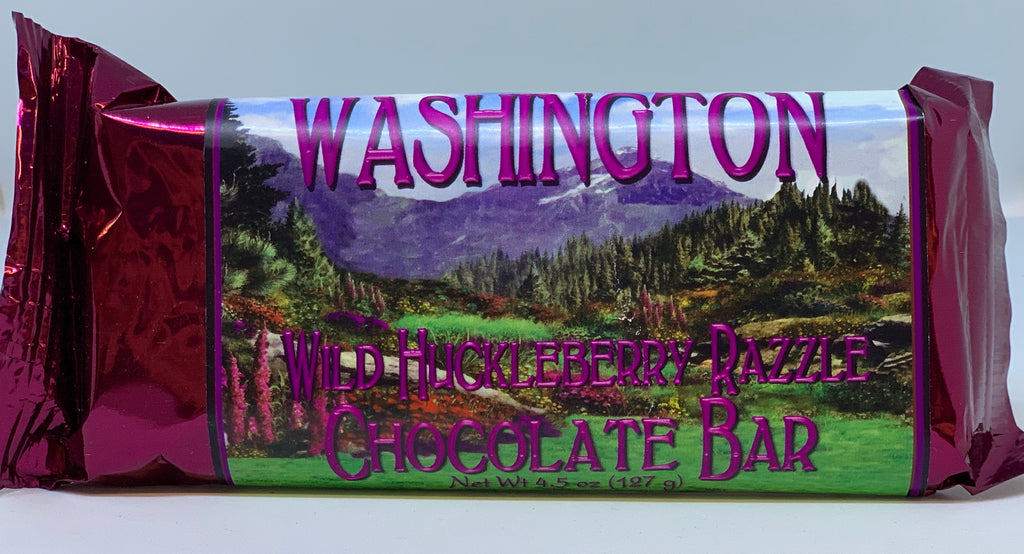 Washington Wild Huckleberry Razzle Chocolate Bar