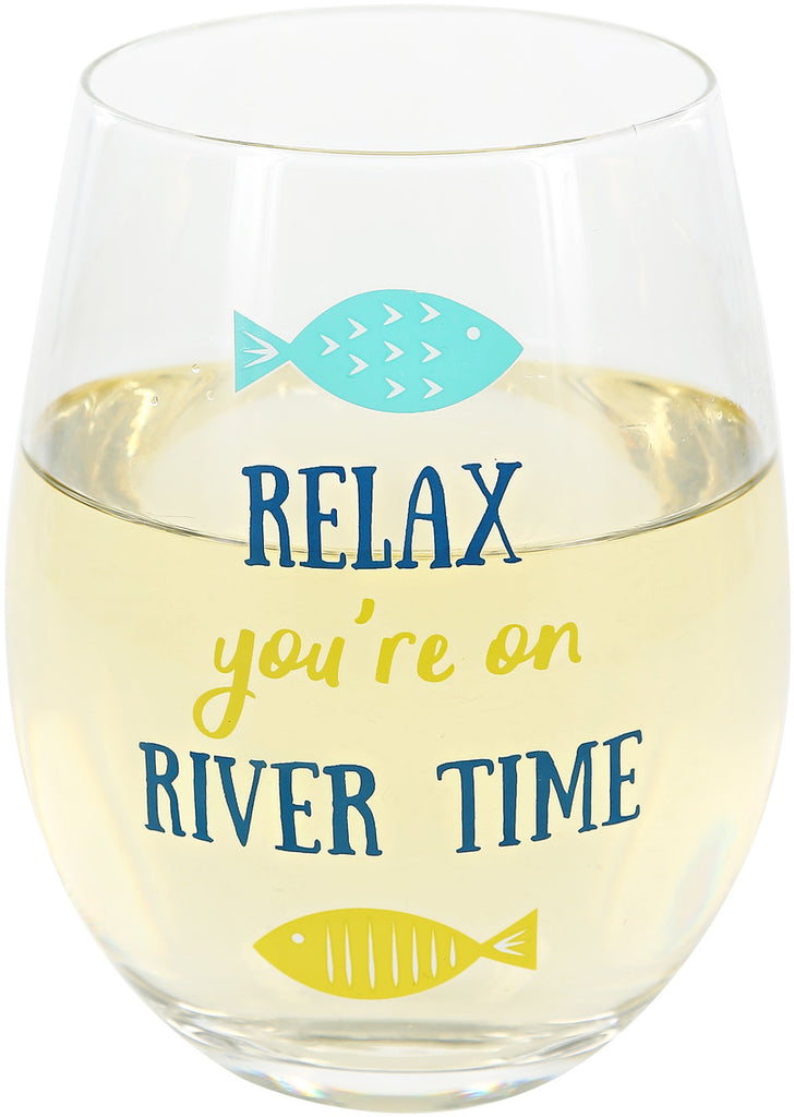 River stemless Wine Glass
