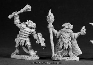 Miniature: Metal | Kobold Leader and Sorcerer