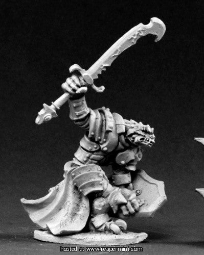 Miniature: Metal | Dragonman Warrior