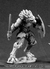 Miniature: Metal | Golanth, Half-Dragon Warrior