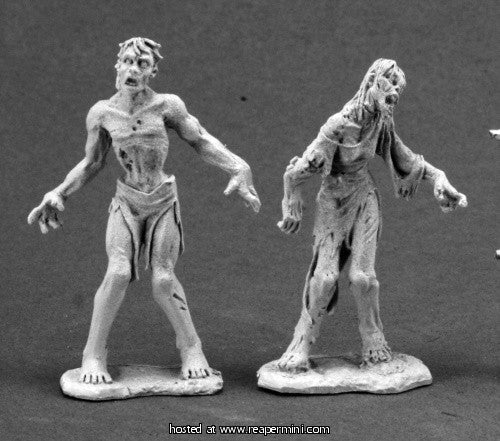 Miniature: Metal | George and Gracies Zombies
