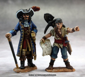 Miniature: Metal | Pirate Lord and Cabin Boy