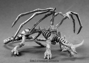 Miniature: Metal | Young Skeletal Dragon