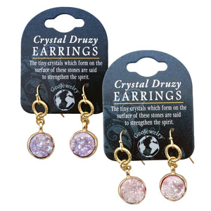 Earrings w/ Large Crystal