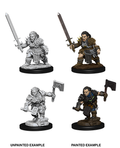 Miniature: Deep Cuts | Female Dwarf Barbarian