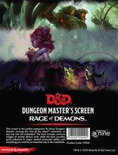 D&D 5e: Dungeon Master's Screen | Out of the Abyss, Rage of Demons
