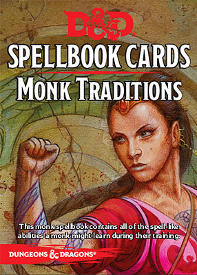 D&D 5e: Spellbook Cards | Monk Traditions v2