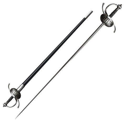 Ribbed Shell Rapier Swept Hilt