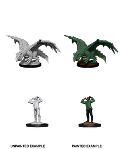 Miniature: Nolzur's | Green Dragon Wyrmling & Afflicted Elf