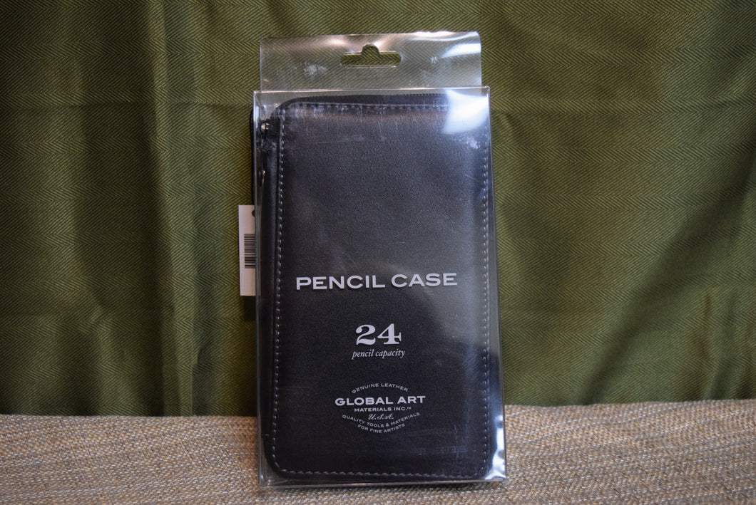 Leather Pencil Case Black 24ct