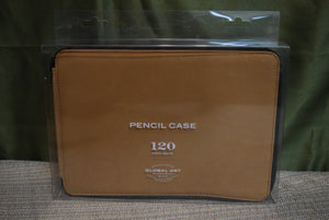 Leather Pencil Case Brown 120ct