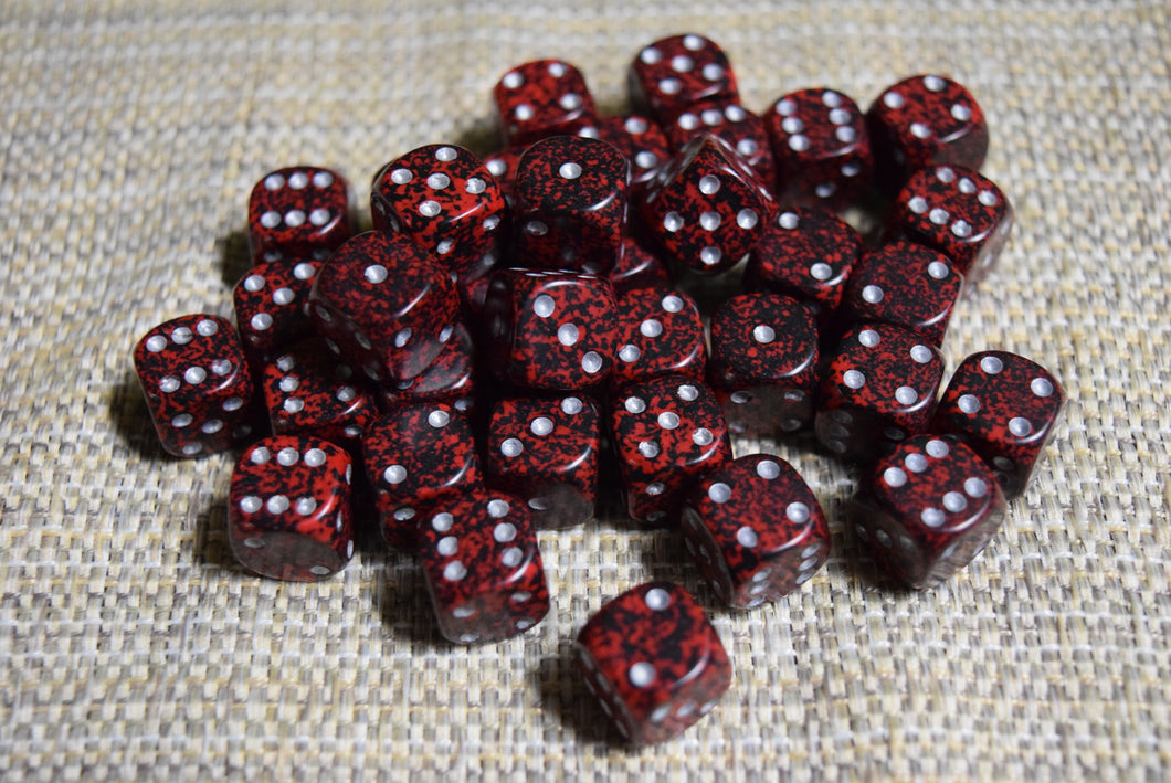 12mm D6 Set - Speckled
