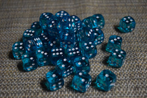 12mm D6 Set - Transparent