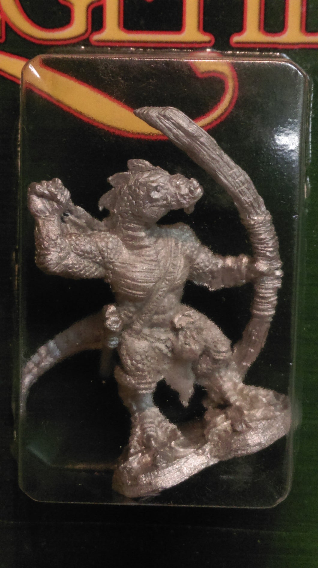 Miniature: Metal | Lizardman Archer Pewter
