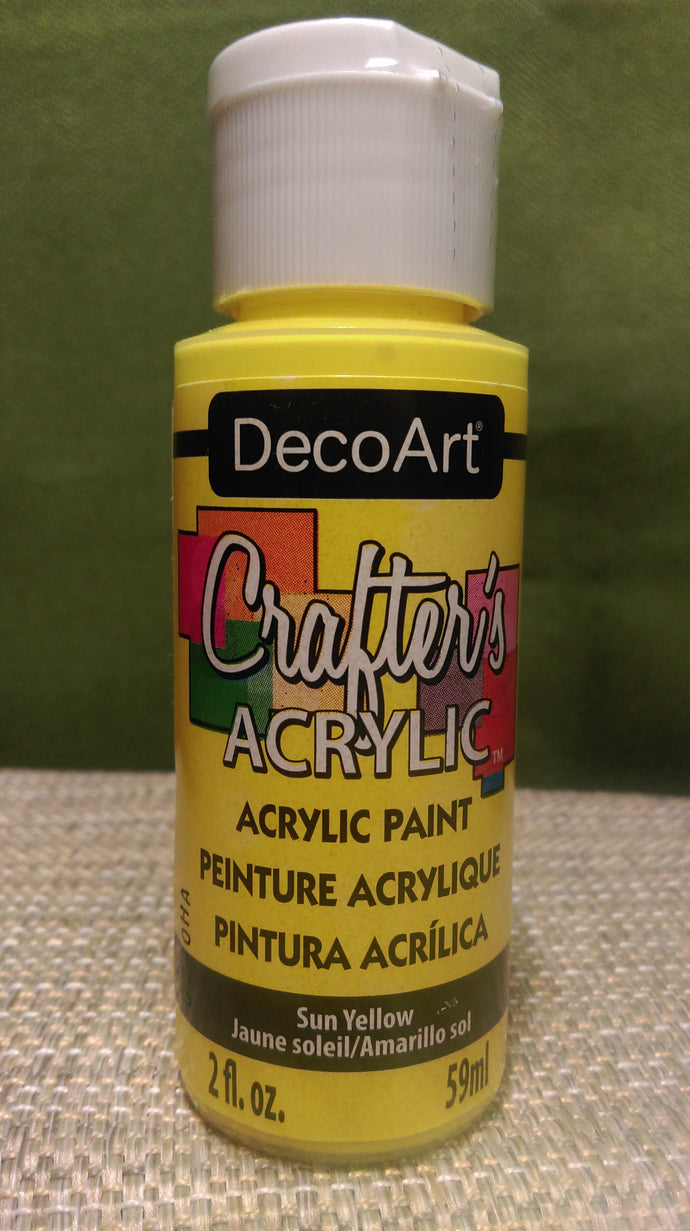 Acrylic Paint Sun Yellow 2 oz.