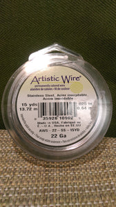 Wire Art Wrap 22ga 15yds Steel