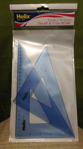 Triangle Acrylic Pair Blue