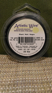 Wire Art Wrap 22ga 15yds Black