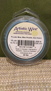 Wire Art Wrap 22ga 15yds Blue