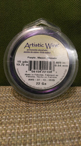 Wire Art Wrap 22ga 15yds Purple