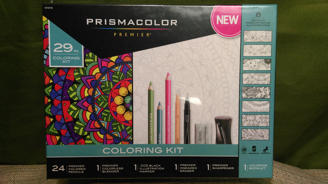 Adult Coloring Kit 29pc