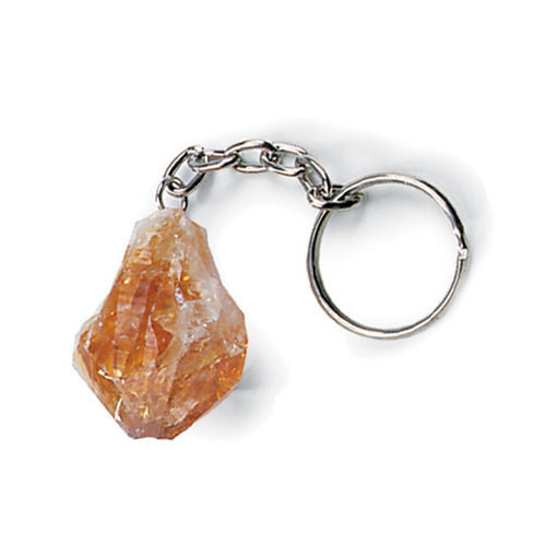 Citrine Points Key Chain