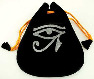 Bag Black Velvet Eye of Horus