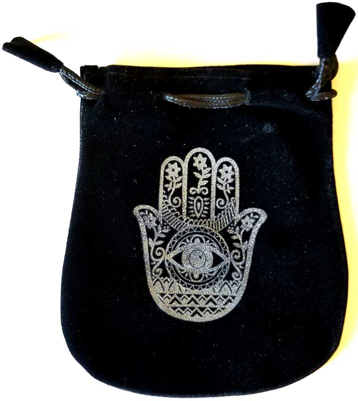 Bag Black Velvet Hand of Comp
