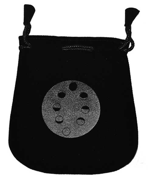 Bag Black Velvet Moon Phases