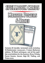 D&D 5e: Spellbook Cards | Martial Powers & Races v3