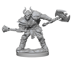 Miniature: Deep Cuts | Half Orc Male Barbarian