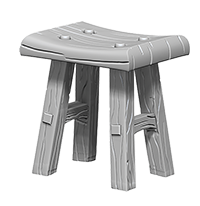 Miniature: Deep Cuts | Table and Stools