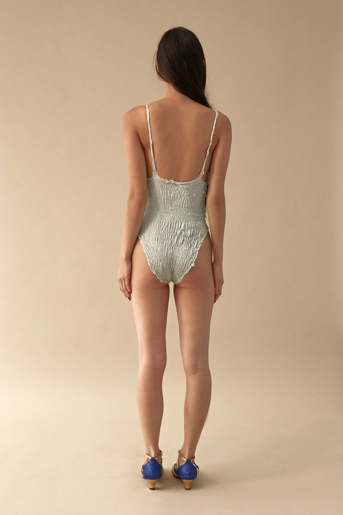 Elasticated Snakeskin One Piece