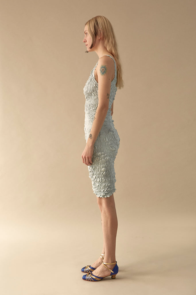 Elasticated Snakeskin Dress