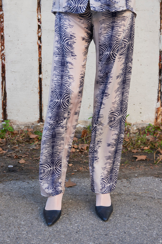 Zebra Panelled Pants