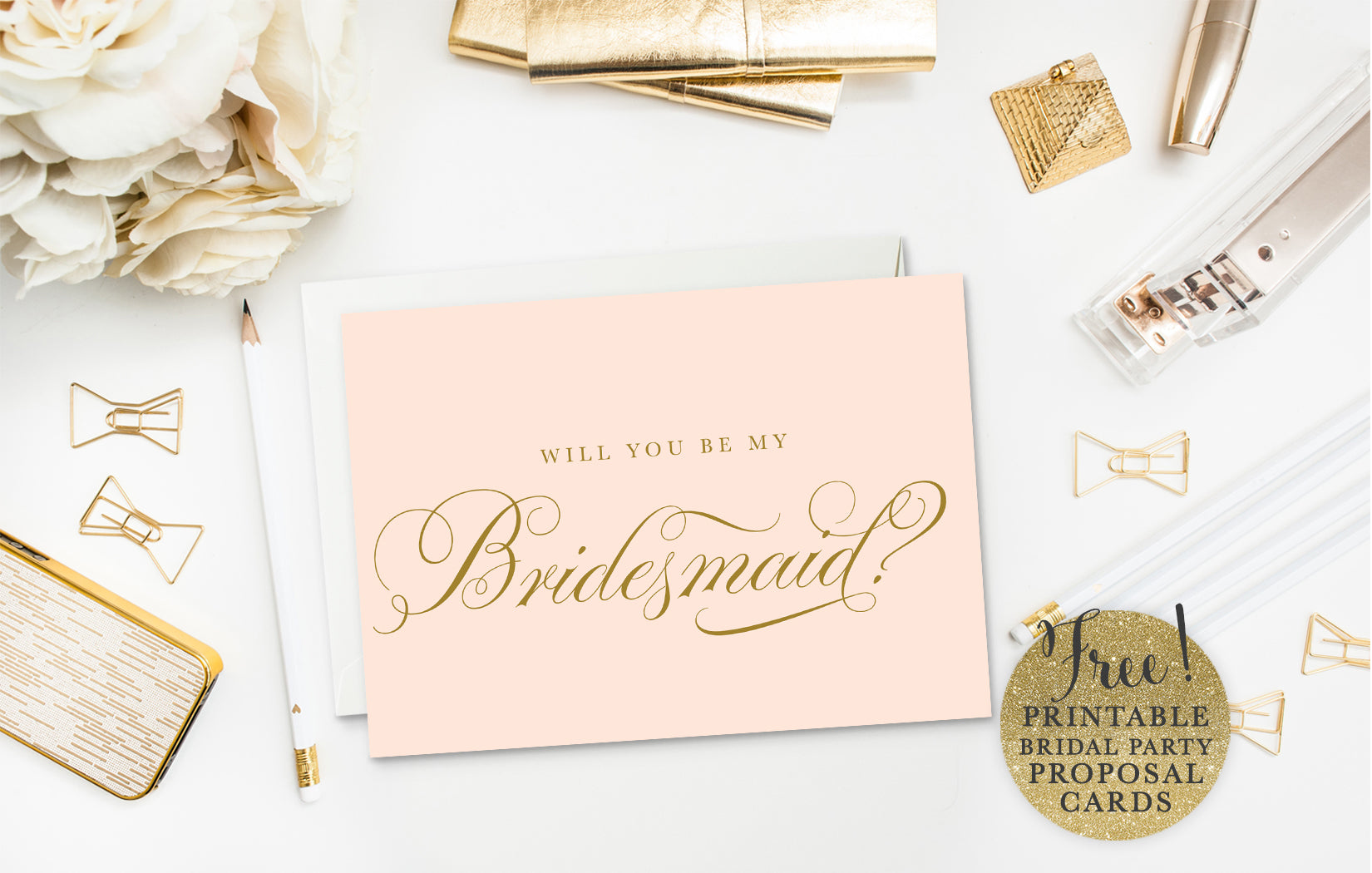 It's just a picture of Canny Free Printable Bridesmaid Proposal