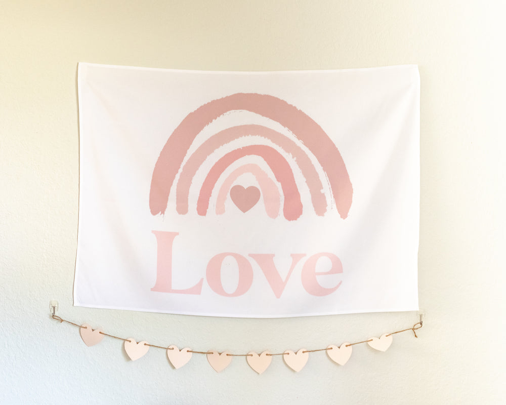 Painterly Rainbow Love Mini-Backdrop