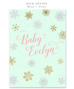A Snowflake is on Her Way!: Baby Girl Winter Holiday Shower Invitation