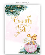 Merry Little Bridal Shower: Holiday Bridal Shower Invite, Pink