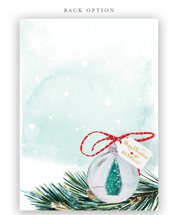 Christmas Party Invitation: Christmas Tree Ornament Invite, Green