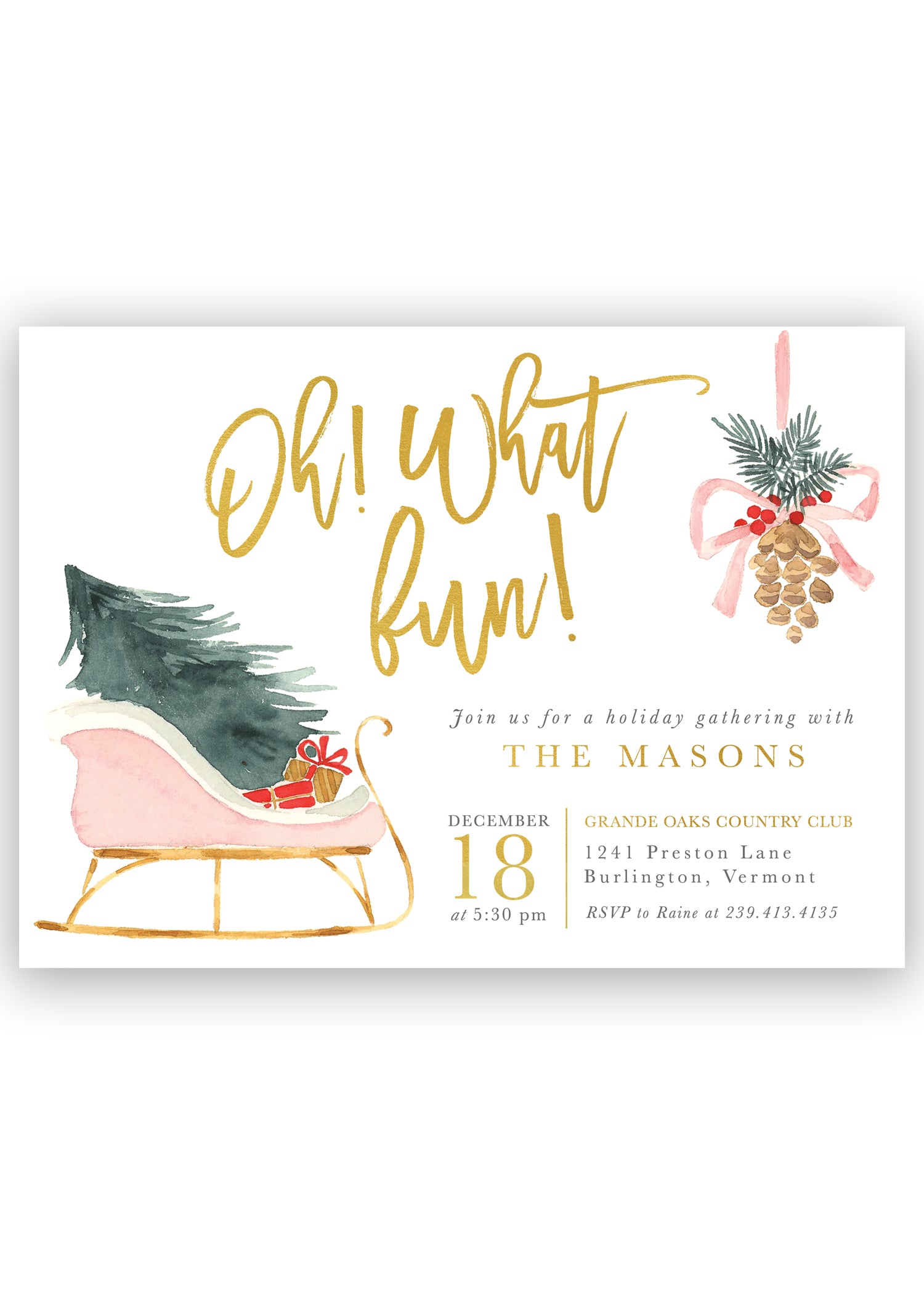 oh what fun modern christmas party invitation sea paper designs